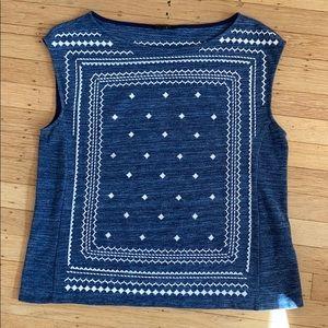 Banana Republic knit sleeveless top size large